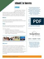 2016 destination success one page overview