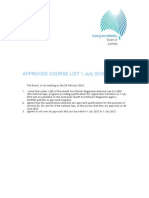 Aussie Bridging Programs Approved Course List 7 July 2010