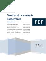 Ventilación en Minería Subterránea