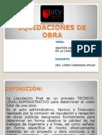Lquidaciones de Obra Eusebio Urbano Saul Paucar Sevillano Carlos Alvarado
