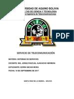 Servicio de Telecomunicación (Informe)