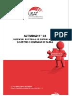Actividad N° 03. Potencial Eléctrico de Distribuciones Discretas y Continuas de Carga. Ciclo 2017 - II