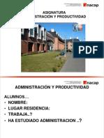 UNIDAD I Administracion y Productividad Parte a 2017