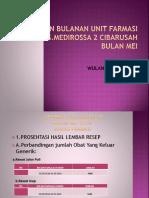Laporan Bulanan Mei 2014 Farmasi