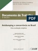Documento de Trabalho Antidumping e Concorrencia No Brasil