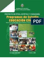 Programa de Estudios de Educación Cívica para III Ciclo y Educación Diversificada