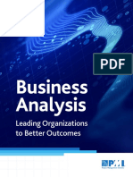 Business Analysis Outcomes