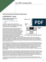 Homopolar Generator HPG Faraday Disk