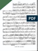 Partitura de Piano - Aria (Haendel)