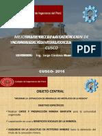 Mejoramiento de La Extraccion de Yaciminetos No Metalicos en La Region Del Cusco