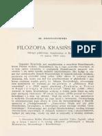 M. Zdziechowski - Filozofia Krasińskiego