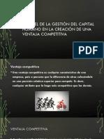 El Papel de La Gestión Del Capital Humano en la creacion de una ventaja competitiva