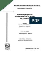 Metodología Para La Implementación de Mapeo de Procesos