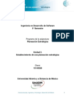 Unidad 2 Establecimiento de Una Planeacion Estrategica DPES
