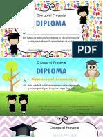 Diplomas Preescolar
