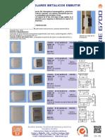 Tableros Modulares Metalicos Embutir ParaTabiques Serie 6700