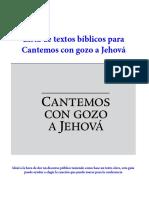 Lista de Textos Bíblicos Para Cantemos Con Gozo a Jehová