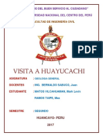 Informe Visita a Huayucachi-geologia