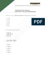 Álgebra de Polinomios y Fracciones Algebraicas