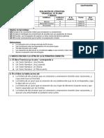 Evaluación de Francisca Yo Te Amo 7º