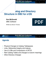 New Catalog and Directory for DB2 10