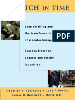 A Stitch in Time - Lean Retailing and the Transformation of Manufacturing - F H Abernathy, J T Dunlop, J H Hammond & D Wel