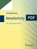 A v Balakrishnan Aeroelasticity the Continuum Theory