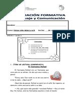 Evaluacion Formativa Unidad 1 , Leccion 3 Lenguaje