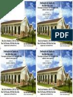 Convite de Dedicação Da Capela Da Sitio Sao Joao3