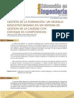 Modelo Educativos Basado en Un Sistema de Gestion