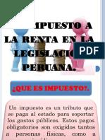 Diapositiva de Impuesto a La Renta Peruana