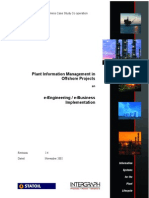 Plant Information Management in Offshore Projects - 2002 Statoil
