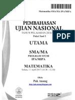 Pembahasan Soal UN Matematika SMA IPA 2017 Paket 1