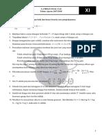Soal Intensif Uas Matematika Kelas XI