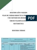 PUD (MICRO CURRICULAR) MATEM+üTICA  SEGUNDO 2016-2017
