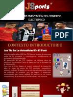 Plan de Implementación de Una Plataforma Para Tienda Online Venta de Ropa Deportiva - De La Cruz Sanchez - Prof Cronwell Mairena Rojas - Diapositiva