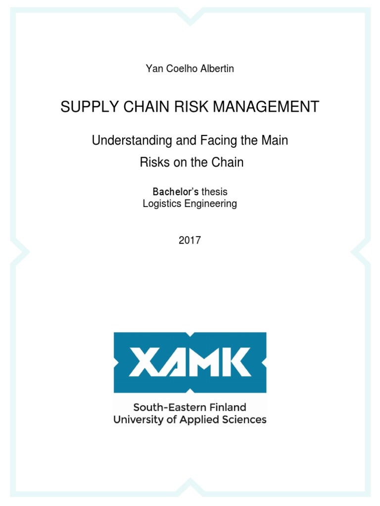 Thesis supply chain risk management cheap analysis essay proofreading services for mba