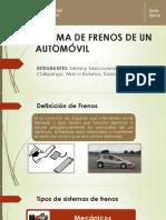 Sistema de Frenos de Un Automóvil