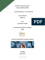 Trabajo colaborativo I. Inferencia estadística