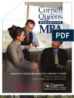 Cornell Queens Executive MBA