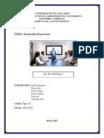 Informe de Desarrollo Del Personal