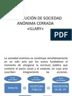 Constitución de Sociedad
