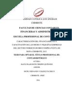 Financiamiento Capacitación Mypes Crespin Quiñones Pilar Rocío