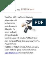 AirTurn DIGIT II Manual