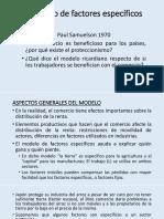 El Modelo de Factores Específicos 2017A