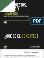 Gisella Orjeda - Exposición del Presupuesto de Concytec 2016