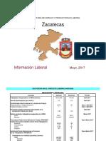 Productividad Laboral Zacatecas mayo 2017