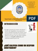 Derecho Empresarial- Despido Arbitrario
