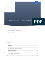 Cisco ISR4451-X/K9 Datasheet