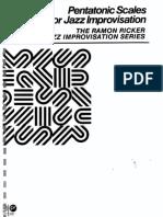 Pentatonic Scales For Jazz Improvisation - RICKER, Ramon.pdf